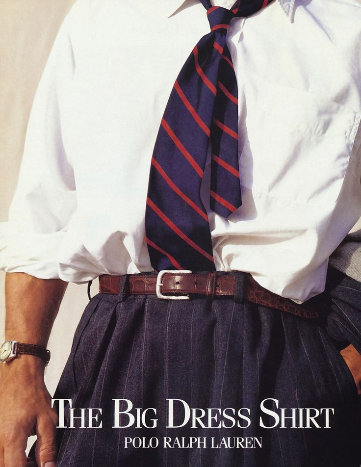 Welcome to the 90s. Meet the Big Dress Shirt. Tuck in your ties, fellas—this is going to be an opulent ride.