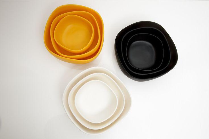 Nido 3-Piece Hanmdade Resin Bowl Set by Tina Frey - – DishesOnly