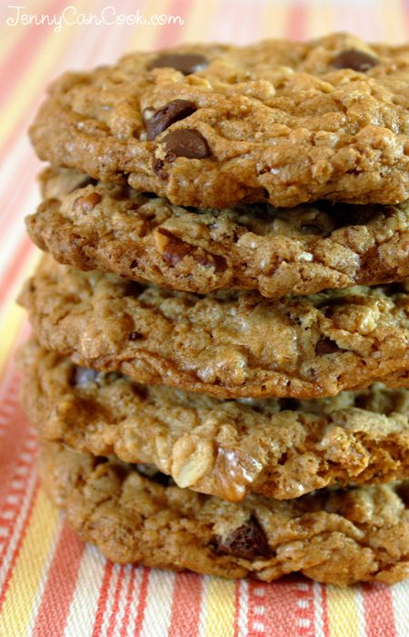 Whole Wheat Oatmeal Chocolate Chip Cookies Without Butter