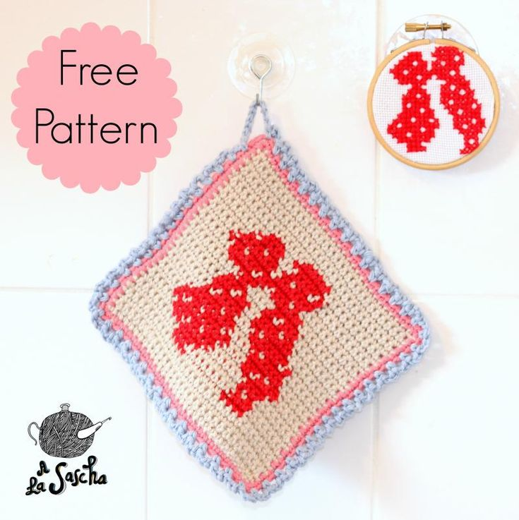 The Kiss Potholder FREE pattern, lush. In Dutch and English, : thanks so! Kussende boertjes. Typisch Hollands