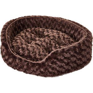 Furhaven Ultra Plush Oval Dog Cat Bed Chocolate Medium Dog Bed Puppy Beds Dog Varieties