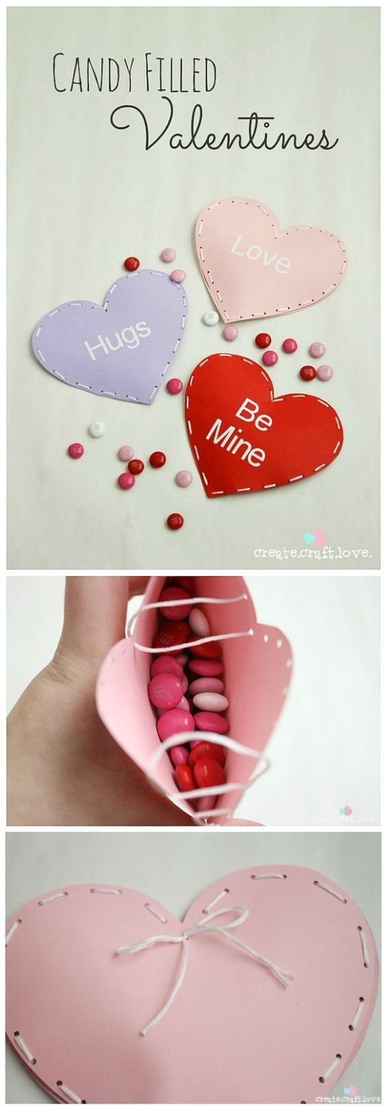Handmade Valentines - These Candy Filled Valentines are adorable and such a cute Valentine Craft for Kids... Perfect for Classroom Valentine Parties! PIN IT NOW and make them later!