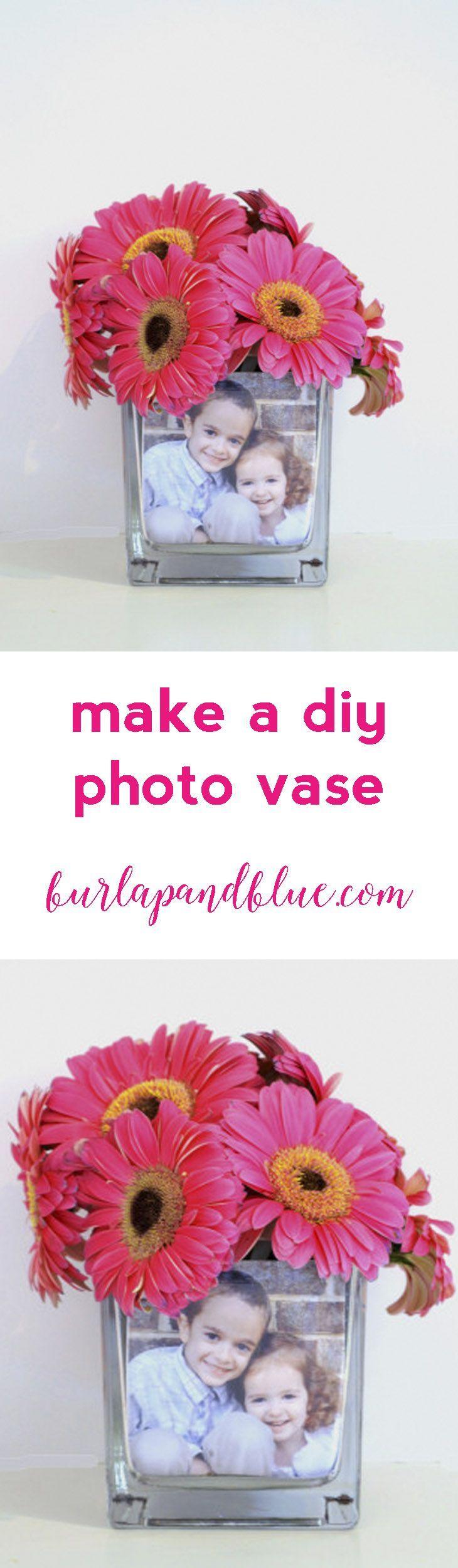 make a DIY photo vase with Mod Podge!