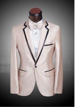 US $81.52 Men's Tuxedo Styles Men's Wedding Suit Tuxedo Jacket Mens Choir Suit Custom Made Black Three Piece Suit((Jacket+Pants+Tie)