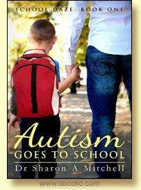 """Autism Goes to School. By Dr. Sharon A. Mitchell.  Ben did not know that he had fathered a child until an old girlfriend in a distant city asked him for child support and money for therapies. Monthly payments was all she wanted - no contact, she said.  Then this 5 year old appears on his doorstep with a suitcase and a hasty """"good-bye"""" from the ex. Now Ben must learn not only how to be a dad, but Kyle has autism."""
