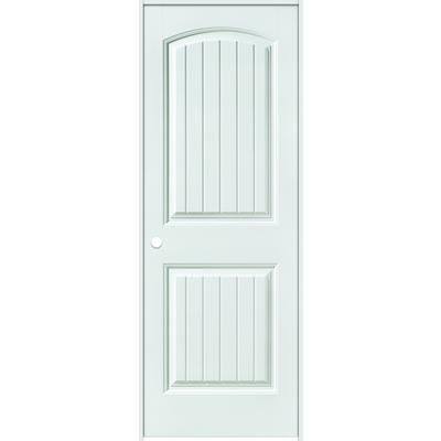 Masonite Primed 2 Panel Plank Smooth Prehung Interior Door 36 Inch X 80 Inch Right Hand