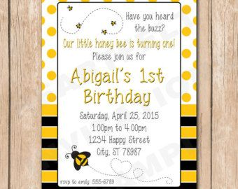 Bumble Bee Baby Shower Invitation Por MermaidMonkeyDesigns