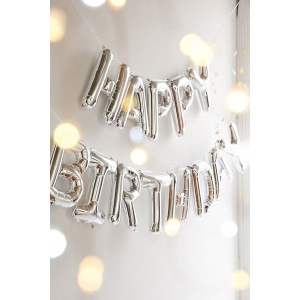 Happy Birthday Metallic Party Balloon Kit (405 MXN) ❤ liked on Polyvore…