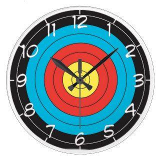 """Horloges murales de conception """"de cible de tir à"""