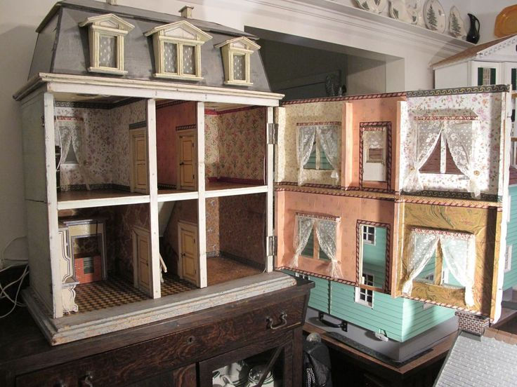 Vintage Dollhouse Furniture For Sale Part - 26: Susanu0027s Mini Homes: Christian Hacker Antique Dollhouse Circa 1880