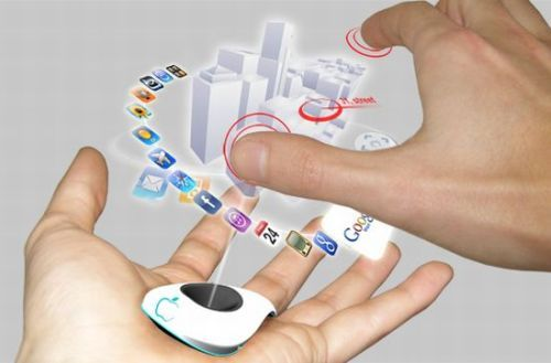 Theme - How awesome will it be when technology gets to this point for cell phones. I think it would be really cool to not even need a screen and have it all be holographic projections.