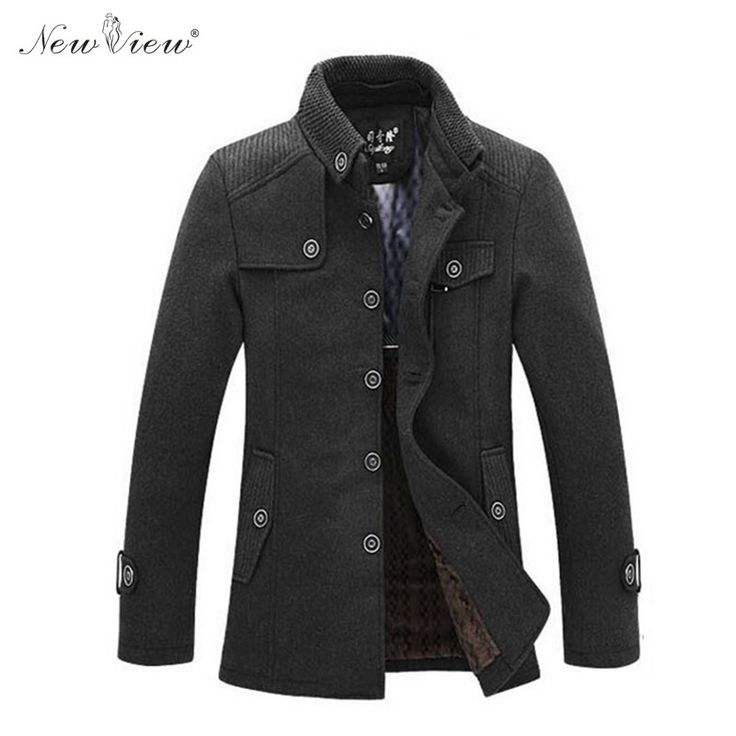 2017 Men Wool Jacket Winter Thick Warm Long Style Parka Windbreak Woolen Coat Mens Casual Parka Plus Size 3XL Brand Clothing