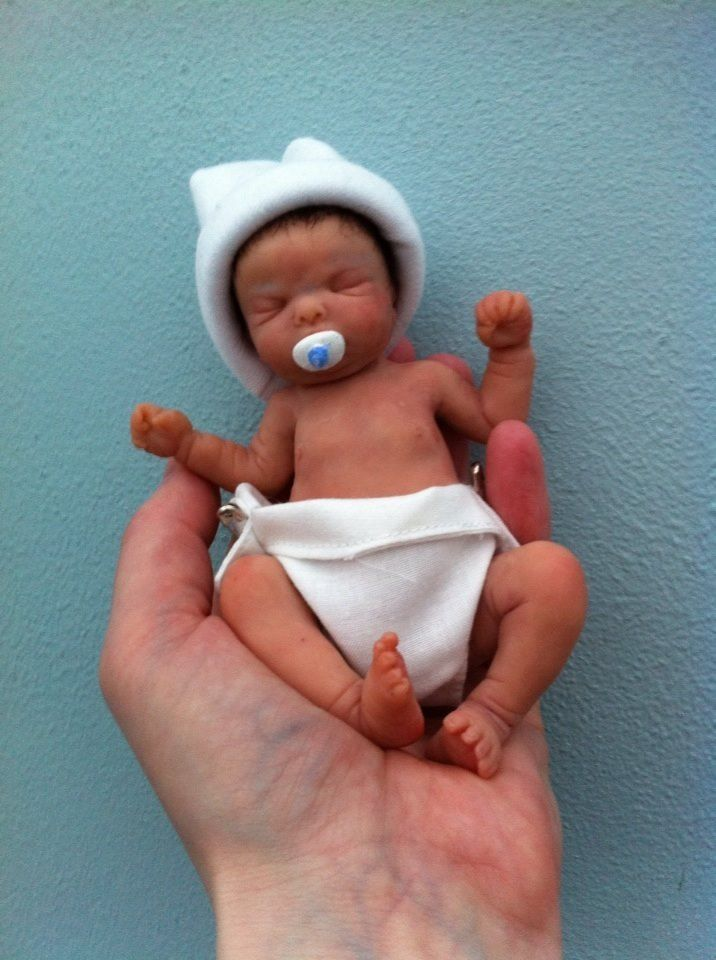 OOAK handsculpted polymer clay** Baby Kyle** by Phil Donnelly