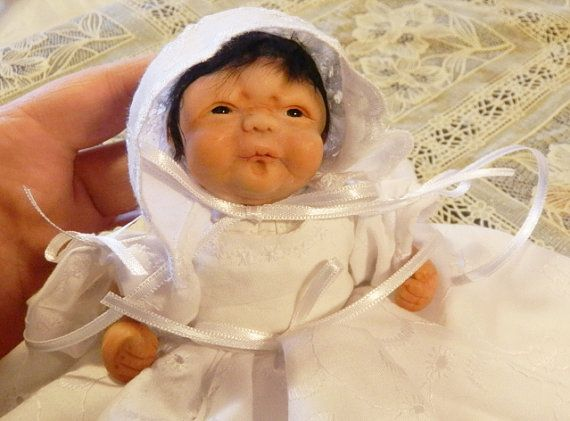 Art Doll Hand Sculpted in Polymer Clay  Adopt by ArtistaToscana, $330.00