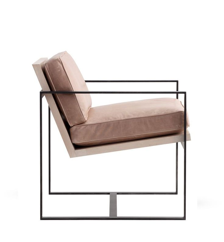 Manhattan Chair hand forged iron frame: shown in Blackened Iron also available in Antique Gold, Antique Silver   upholstered seat: shown w/Pebble leather available in all leathers, fabrics, muslin, or COM   wood seat: shown in Cashew available in all finishes   W28 D28 H32 http://redfordhouse.com/Chairs-Ottomans