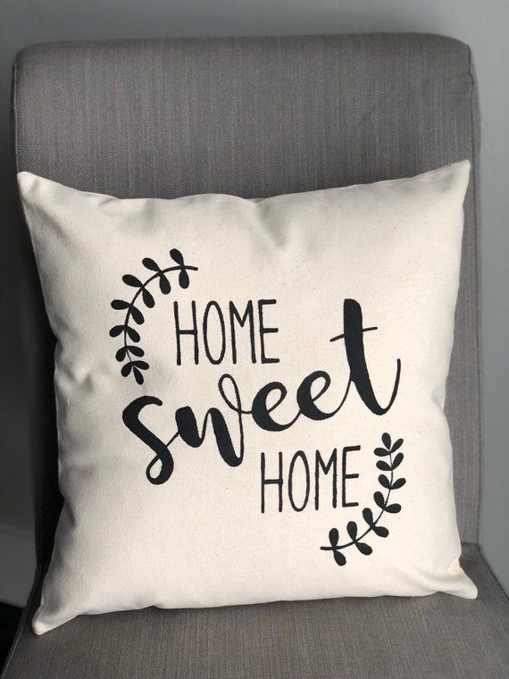 Decorative Pillows Custom Pillow Designer Pillow Throw Pillow Pillow Cover Vintage Pillow Home Sweet Home Pillow Personalized Pillow