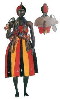 """Exu - Imagens retiradas do livro """"Os Deuses Africanos no Candomblé da Bahia"""" de Caribé"""