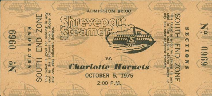1975 WFL World Football League Ticket Shreveport Steamer Charlotte Hornets   eBay