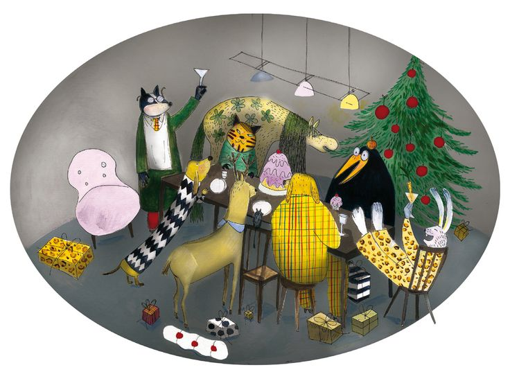 Christmas card for Animal Rights Sweden 2012