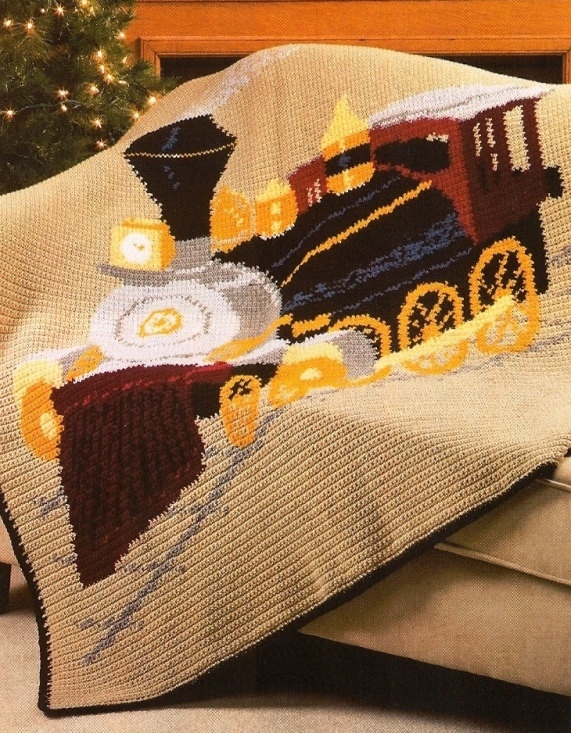 Crochet Locomotive Train Afghan Pattern Baby Blankets