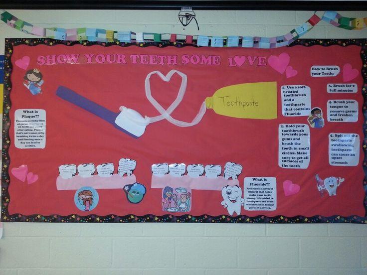 February Valentines Day Dental Health Month School Nurse