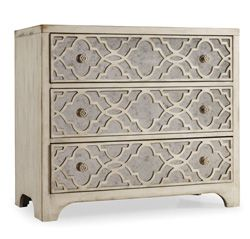 Home Furniture | Living Room Accent Furniture | Sanctuary | Fretwork Chest    By Hooker Furniture
