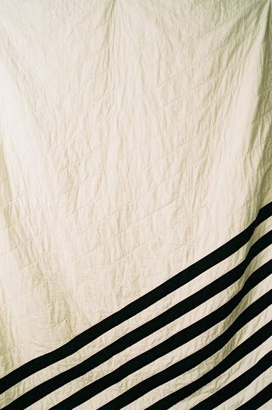 : Sew, Quilt Ideas, Striped Quilt, Black And White, White Quilts, Black White Stripes, Stripes Quilt, Black Stripes