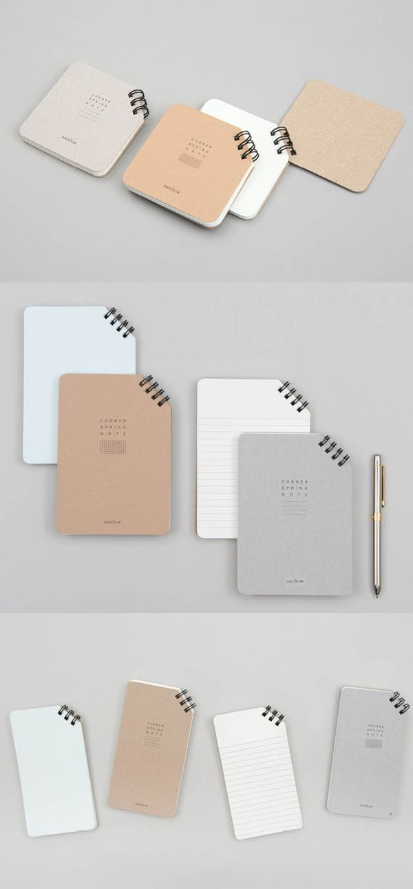 There are several features that make the Corner Spiral Notebook so special! It's handy and has a right-cornered spiral that gives the notebook a unique look! It's available in 3 different sizes and in 2 different note styles - Grid and Lined, so choose your favorite style!