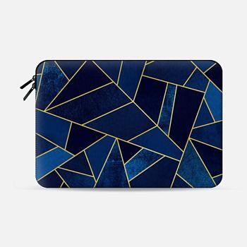 Macbook Pro 13 Sleeve Blue Stone / Gold Lines