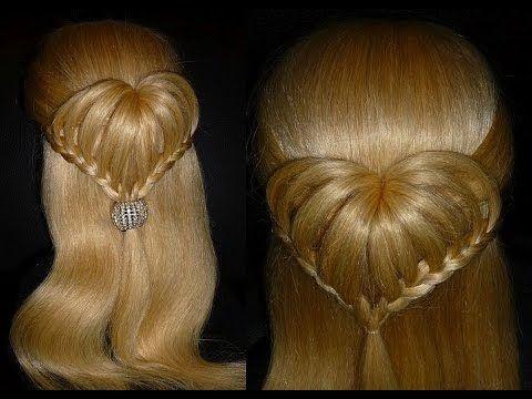 СЕРДЦЕ из волос.Причёска для средних и длинных волос.На самом деле очень легко сделать.. Обсуждение на LiveInternet - Российский Сервис Онлайн-Дневников