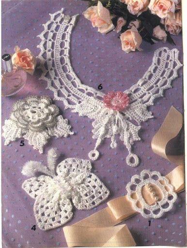 17 meilleures images propos de cols et bijoux au crochet - Bijoux au crochet modele gratuit ...