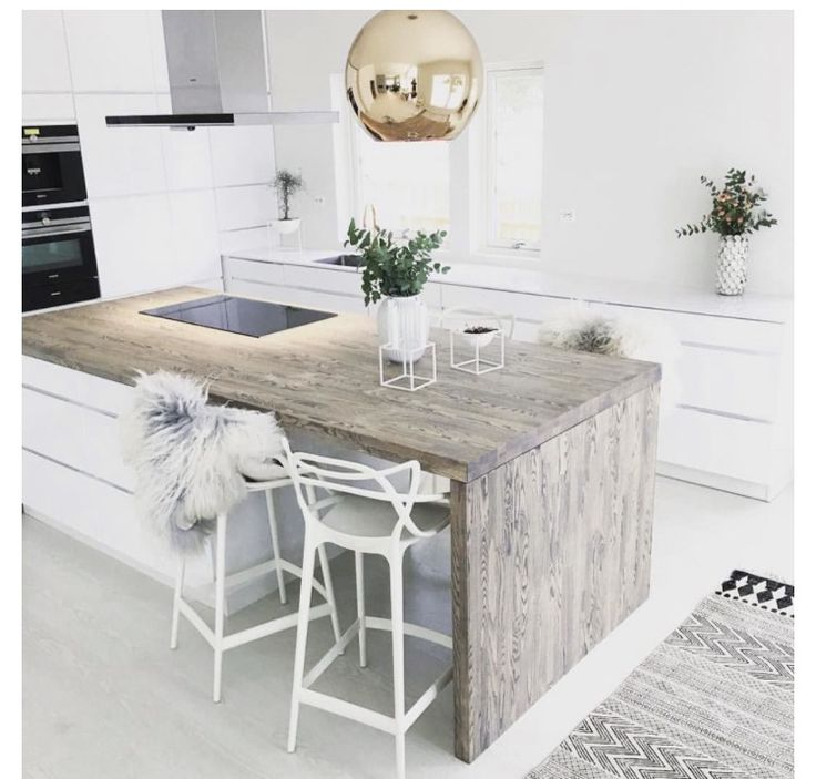 White and stylish kitchen