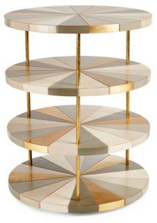 Poiroux 4-Tier Round Side Table by French Heritage