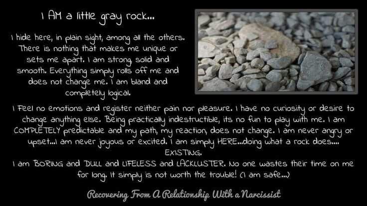 Gray Rock Method   Gray rock Grey rock method Rock