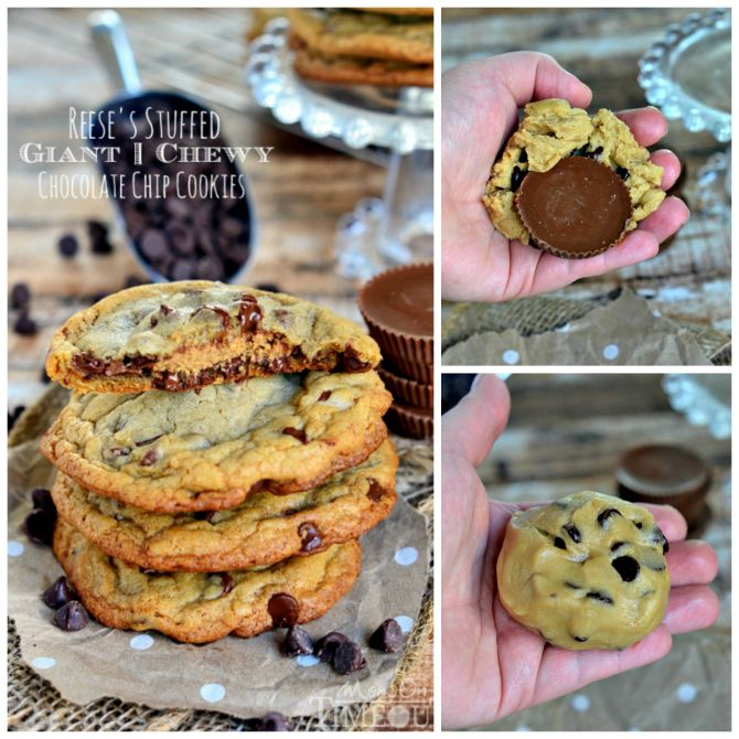 reese s stuffed giant chewy chocolate chip cookies reese s stuffed ...