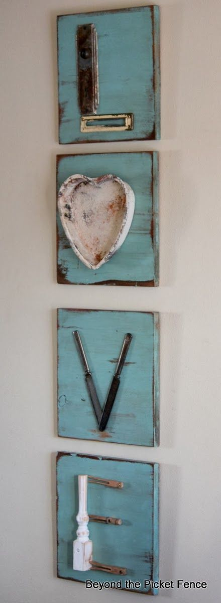 Love Letters - what a great way to use those neat junk treasures we all find and store in the junk drawer or garage.