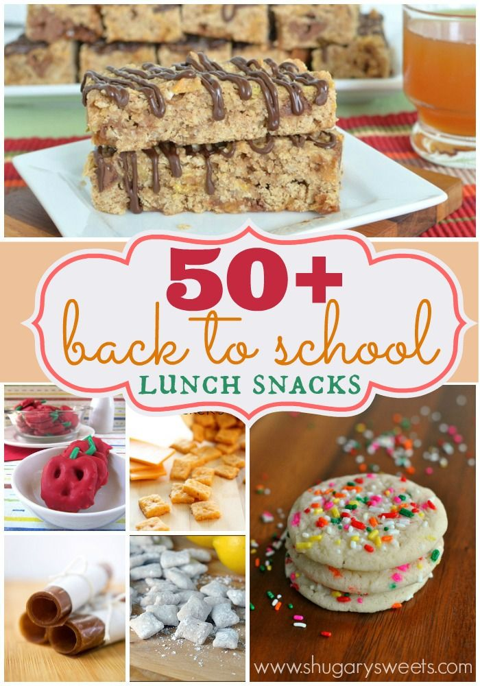 50+ Back to School Lunch Snack Ideas...from copycat LittleDebbie treats to granola bars and cookies!