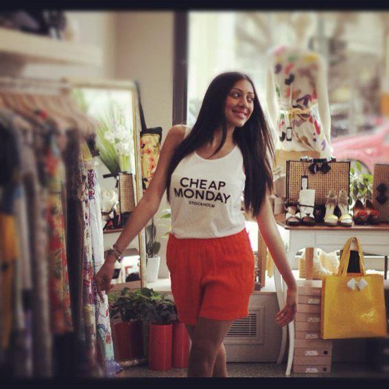 Chic & Fresh | Antonella Boutique #Tshirts #shorts #CheapMonday #AntonellaBoutique