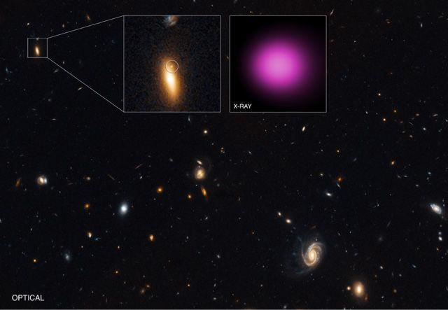 I telescopi spaziali Chandra e XMM-Newton hanno spiato una sorgente estremamente luminosa e irregolare di raggi-X situata appena al di ...