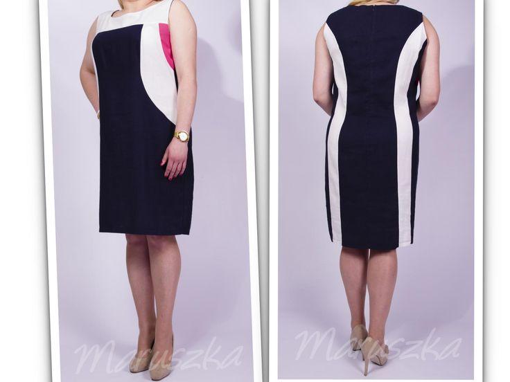 Summer dress! Piękna lniana sukienka rozmiar 50