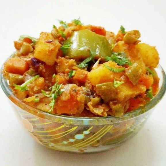 Kadai Vegetable Recipe - Learn how to make Kadai Vegetable, Recipe by Sivasakthi Murali