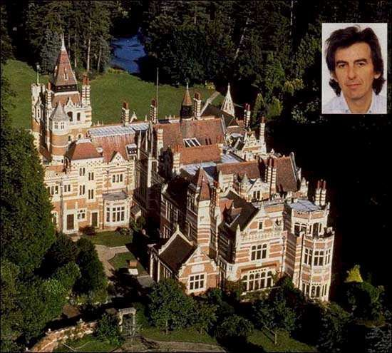 The home that George Harrison lived in at Friar Park, Henley on Thames, UK
