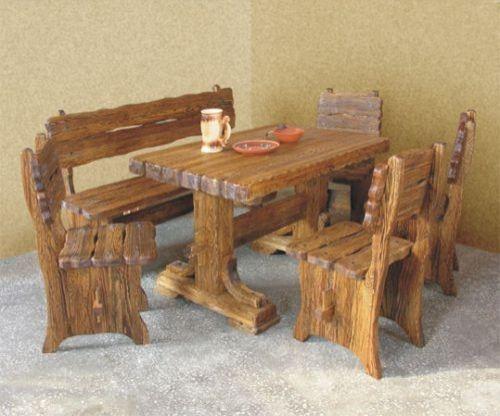 Стол изготовленный из массива дерева под старину Богатырь