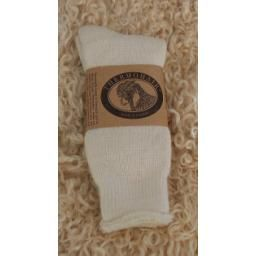 Mohair Sock, Natural, Ladies: So soft and warm! These beautiful socks are made of kid mohair, and have big loops of yarn on the inside for cushioning.