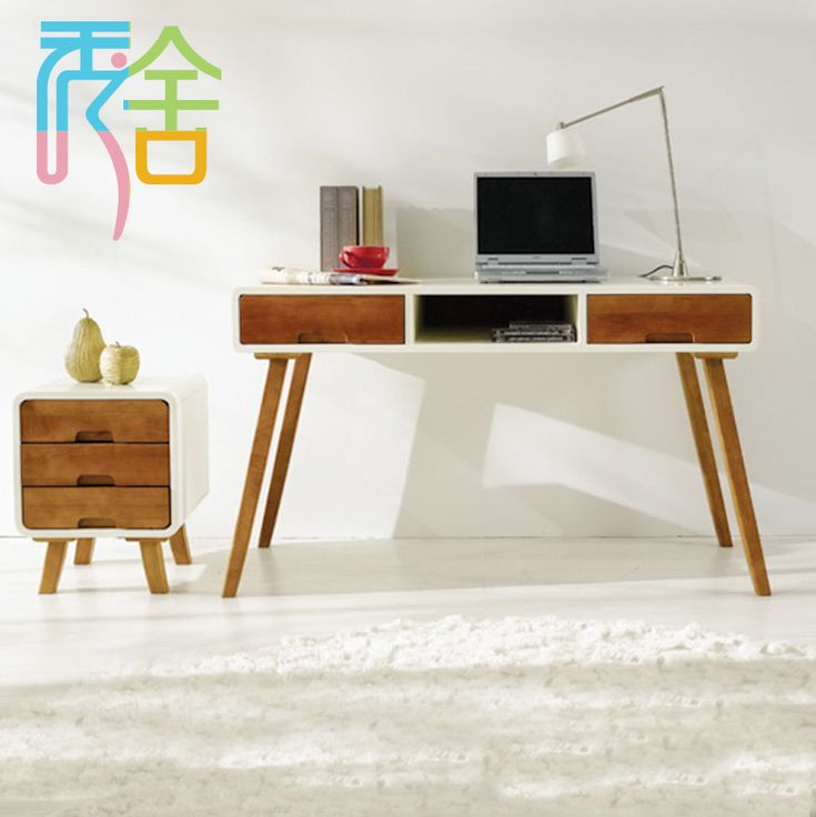 korean study show homes modern minimalist wood font b desk