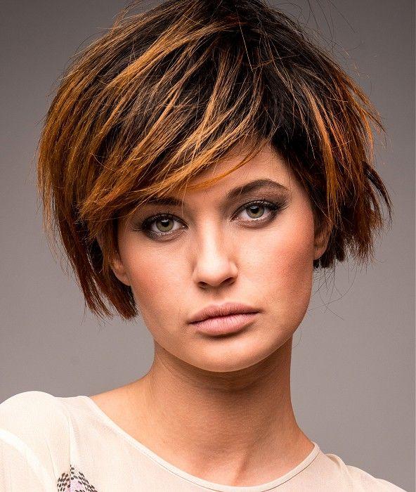 Multi-tonal Hairstyle for Medium-Short Choppy Hair