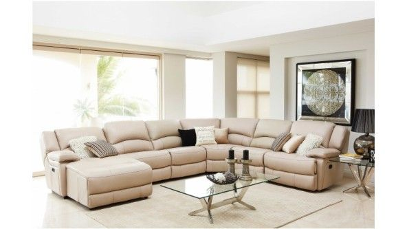 Best Almere Leather Modular Recliner Lounge Suite Lounges 400 x 300