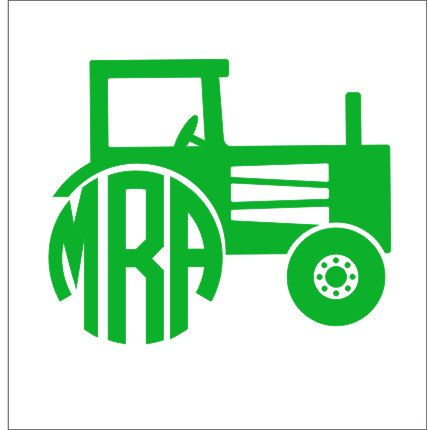 Tractor Monogram Decal Circle Monogram by CustomVinylbyBridge