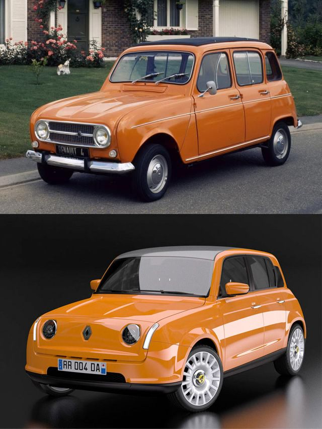 Restyling Renault 4 by David Obendorfer - http://www.differentdesign.it/2013/03/25/restyling-renault-4-by-david-obendorfer/