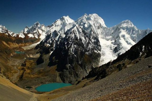 Cordillera huayhuash, z przeleczy san antonio, PERU